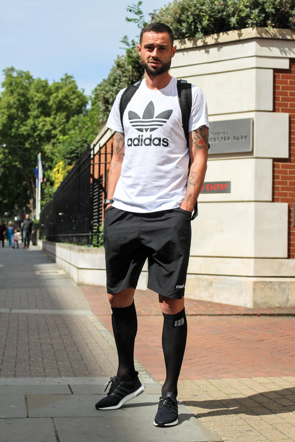 Adidas Pure Boost sneakers outfit